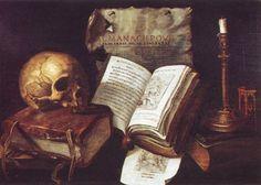 Damien LHOMME ( Actif à Troyes première moitié du XVIIème siècle) - Vanité - Peinture c. 1641