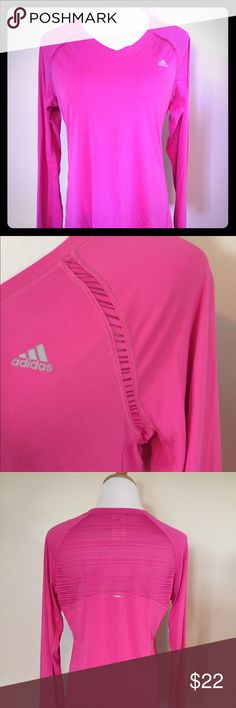 Adidas hot pink work out shirt Super air free back brand new without tag workout shirt Adidas Tops Tees - Long Sleeve