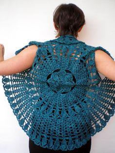 Mandala Fashion zucken grüne Weste Woman Hand von NonnaLia auf Etsy