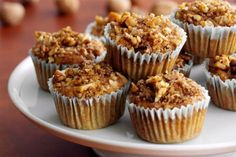 Zucchini Muffins...With the addition of whole-grain oats, pineapple, dried apricots and flax meal