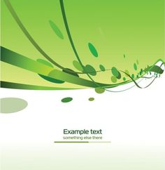 Green ribbons vector background