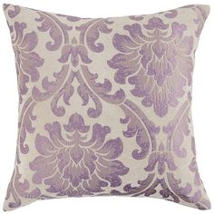 Chenille Damask Lilac Pillow | Pier 1 Imports