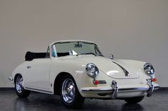 1962 Porsche 356B Cabriolet. Zip zip. I'm not a car person, however I wouldn't mind having this one.