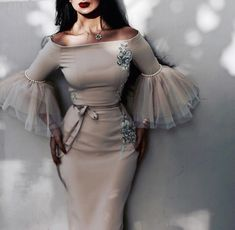 Prepare the betsy and adam prom dresses for the upcoming prom? Then you need to see sexy ruched mermaid prom dresses charming fashion south african celebrity ev Look Fashion, Hijab Fashion, Fashion Dresses, Fashion Design, Party Fashion, Fashion News, Elegant Dresses, Pretty Dresses, Beautiful Dresses