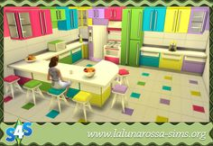 Colorful Kitchen - LaLunaRossa and The Sims