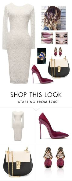 """""""Untitled #977"""" by azra-99 ❤ liked on Polyvore featuring Casadei, Chloé and LE VIAN"""