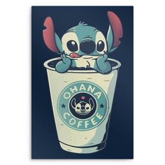 Stitch T-Shirt by Eduardo Ely aka EduEly. Show everyone that you are a fan of Disney& Stitch and coffee with this t-shirt. Disney Phone Wallpaper, Cartoon Wallpaper Iphone, Cute Wallpaper Backgrounds, Cute Cartoon Wallpapers, Iphone Wallpaper Coffee, Kawaii Wallpaper, Pastel Wallpaper, Cute Disney Drawings, Cute Cartoon Drawings