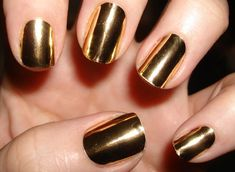 Gold Metallic Nails. Best..... Love these