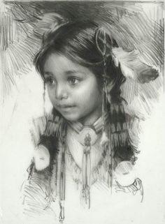 Pencil sketch by Harley Brown. Beautiful work.