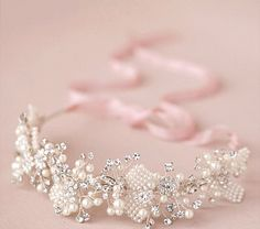 Crystal Bridal Headpiece Beaded Bridal by LaceandGraceCreation