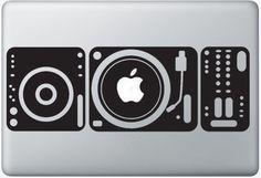 Macbook Funny Humor Decal Sticker Apple Dj Pult