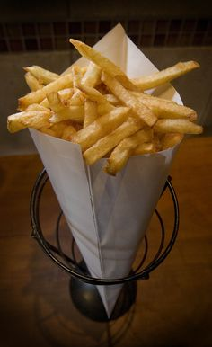 Belgian frites (fries) from Bruges Waffles and Frites