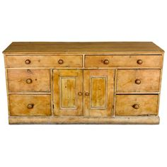 19th Century English Pine Dresser | From a unique collection of antique and modern dressers at https://www.1stdibs.com/furniture/storage-case-pieces/dressers/