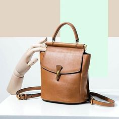 GENUINE LEATHER HANDBAG BUCKET BAG BACKPACK CLUTCH SHOULDER CROSSBODY BAG PURSE FOR WOMEN leather handbags 2018