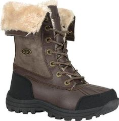 Lugz Tambora Boot in Coffee. The Tambora is a mid calf boot featuring a  soft acrylic fur lining, a padded tongue, a cushioned insole, a rubber toe  cap and ...