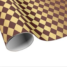 Burgundy Red Gold Geometry Chessboard Diamond Cut Wrapping Paper - anniversary cyo diy gift idea presents party celebration