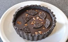 No-Bake Oreo Tart With Butterscotch Chips Oreo Dessert Easy, Cheesecake Tarts, Sweet Corner, Butterscotch Chips, My Cookbook, No Bake Desserts, Oreo Desserts, I Foods, Food And Drink