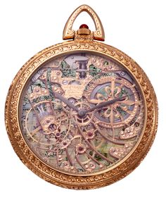 Antique Vintage Pocket Watch with Map Background by EveyD.deviantart.com