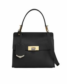 Le Dix Cartable Flap Satchel Bag, Black by Balenciaga at Neiman Marcus.