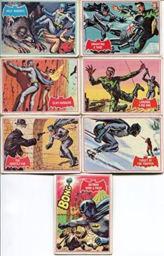 1966 Topps Batman 7 Card Lot with Holy Rodents #1A4A9A11A21A36A35B @ niftywarehouse.com #NiftyWarehouse #Batman #DC #Comics #ComicBooks