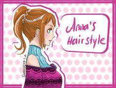 Anna's Hairstyle by ShaniNeko on deviantART