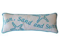 Sun Sand and Surf Decorative Throw Pillow 14 by NauticalBeachDecor