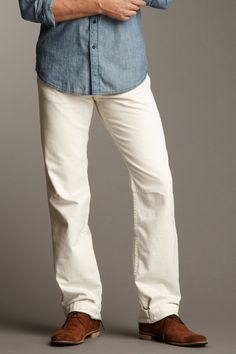William Rast Men's chino pants you look great in cream, just hard to keep clean