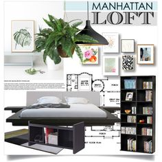 Loft by clotheshawg on Polyvore featuring polyvore interior interiors interior design home home decor interior decorating Atlantic Pablo Nearly Natural HAY