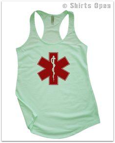 AMBULANCE logo paramedics women's next level by ShirtsOpen on Etsy, $18.00