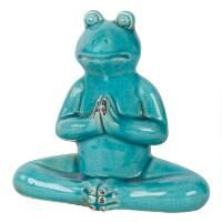 Namaste Frog Statue Teal Frog Statues, Aqua, Teal, Urban Barn, Namaste, Smurfs, Christmas Ornaments, Holiday Decor, Home Decor
