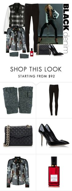 """Black Denim"" by katiethomas-2 ❤ liked on Polyvore featuring Paige Denim, Rebecca Minkoff, Dolce&Gabbana, RED Valentino, Diana Vreeland Parfums, women's clothing, women's fashion, women, female and woman"