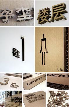 Cardboard Signage System | estudio versus