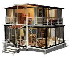 EBS Block Residential Container Home Double