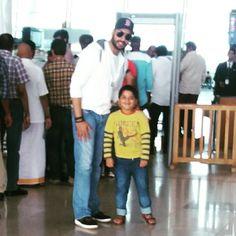 With Abhishek Bachchan @ Chennai airport on Nov 22, 2015.