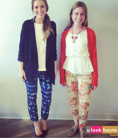 printed cropped pants for spring & summer @u look haute @Ilana Berger