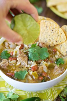 Warm, cozy and full of amazing flavor, this spicy chile verde stew is a perfect one-pot meal!