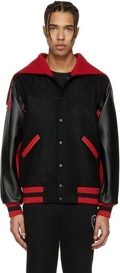 OPENING CEREMONY Black Albania Global Varsity Jacket. #openingceremony #cloth #jacket