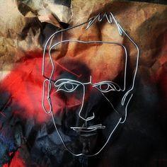 B.T. continuous wire portrait, web: www.artbending.ro