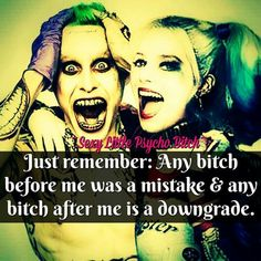 harley quinn own that shit own it quote Bitch Quotes, Joker Quotes, Badass Quotes, Best Quotes, Funny Quotes, Qoutes, Heartless Quotes, Harly Quinn Quotes, Enjoy The Ride