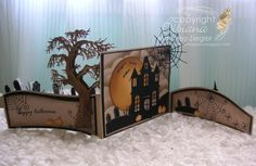 Memory Box die Halloween card