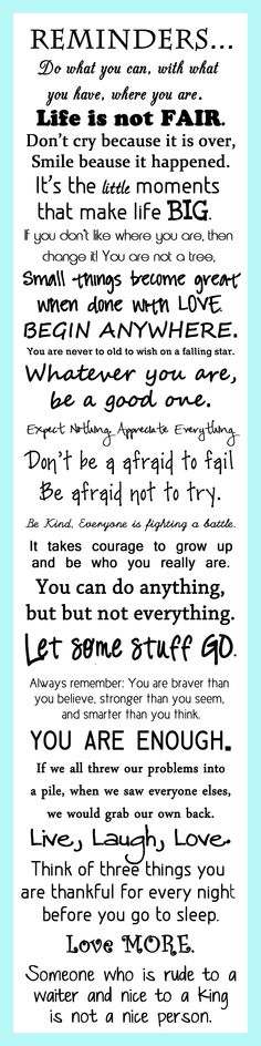 Reminders for Life :)
