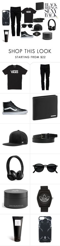"""""""black makes everything sexy"""" by deidrafashion ❤ liked on Polyvore featuring Vans, Valentino, Porsche Design, MELIN, Yves Saint Laurent, Beats by Dr. Dre, Burberry, adidas, Eight & Bob and Marcelo Burlon"""