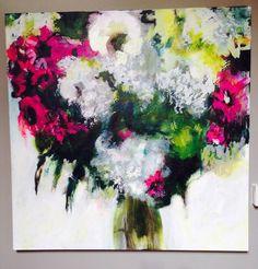 "' Aujourd'hui ' by Pauline Agnew. Acrylic on canvas 36X36"" 2015"