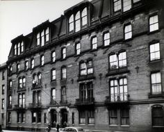 The first apartment building in NYC. In 1870, a developer named Rutherford Stuyvesant tried something new with his Stuyvesant Flats at 142 East 18th Street, near Third Avenue