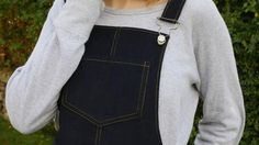 I've finally made my Cleo Pinafore! I wanted a navy corduroy version for winter. Dungarees, Overalls, Sling Backpack, Corduroy, Blog, Pants, Diy, Fashion, Trouser Pants