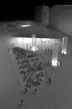 Cobe – Nørreport Station – Public infrastructure is public space Arch Model, Corporate Identity, Scale Models, Copenhagen, Track Lighting, Facade, Architecture Design, Train Stations, Architectural Models