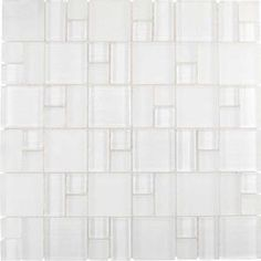 Linen Snow Block Pattern Mosaic