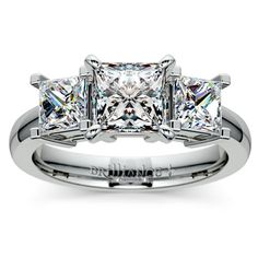 Princess Diamond Engagement Ring in White Gold http://www.brilliance.com