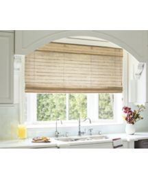 Transform your space into a natural oasis with our Natural Woven Wood Shades Woven Wood Shades, Bamboo Shades, Porch Windows, Blinds For Windows, Kitchen Window Blinds, Kitchen Windows, Shades Window, Smith And Noble, Bamboo Blinds
