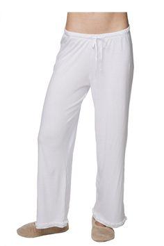 Ruffle Pant in White